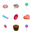 sweet candy icon set isometric style vector image