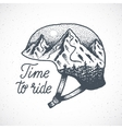 Time to Ride Abstract Hand Drawn Snowboard