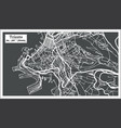trieste italy city map in retro style outline map vector image vector image
