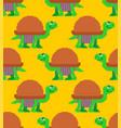 turtle pixel art pattern seamless tortoise 8 bit vector image vector image