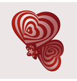 Two abstract heart vector image vector image