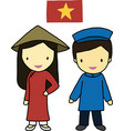 Vietnam traditional costume vector image vector image