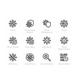 virus icon set biohazard stop bacteria vector image