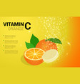 vitamin c orange soluble pills with orange flavour vector image vector image