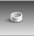 white adhesive tape roll isolated on transparent vector image vector image