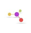 Molecule sign flat icon vector image