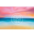 sunset beach blurred background with line sign vector image