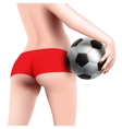 woman with soccer ball vector image