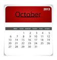 2013 calendar october vector | Price: 1 Credit (USD $1)