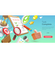 3d conceptual of task complete vector image