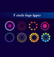 abstract circle design elements vector image vector image