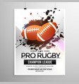 abstract rugsports flyer design with grunge vector image