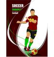 al 0606 soccer 01 vector image vector image