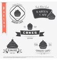 Bakery cafe The food and service Set of vector image vector image