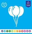 balloons icon vector image