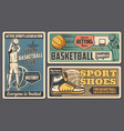 basketball sport equipment shoes team club vector image vector image
