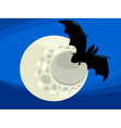 bat at night cartoon vector image vector image