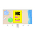 big summer sale billboard with seashore sandy vector image vector image