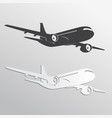 black and white airplane39s silhouettes vector image vector image