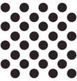 black and white seamless polka dot pattern vector image vector image