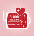 blood donation banner vector image vector image