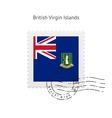 British Virgin Islands Flag Postage Stamp vector image vector image