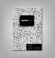 Brochures book or flyer with black spots on white vector image vector image