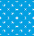 button pattern seamless blue vector image vector image
