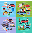 Carsharing Concept Icons Set vector image