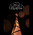 christmas and new year card copper 3d pine tree vector image vector image