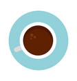 coffee cup top view icon flat isolated vector image