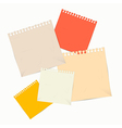 Colorful Empty Paper Sheets vector image vector image