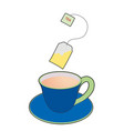 cup and tea bag vector image