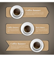 design coffee banners with a cup coffee vector image