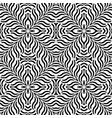 design seamless monochrome interlaced pattern vector image vector image