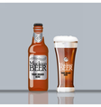 Digital glass of dark brown beer vector image vector image