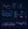 digital music waves futuristic hud elements vector image
