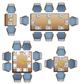 Dining furniture top view set 3 for interior vector image vector image
