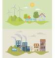 eco city and save planet design vector image vector image