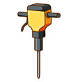 electric drill on white background vector image vector image
