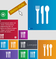 fork knife spoon icon sign buttons Modern vector image vector image