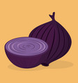 fresh onion vegetable icon vector image