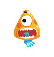 funny one eyed toothy monster fabulous creature vector image vector image
