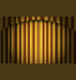 gold stage curtain realistic closed silky vector image vector image