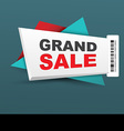 Grand sale banner with barcode vector image vector image