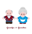 Grandmother and grandfather cartoon style vector image vector image