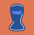 icon in flat design balaclava vector image