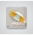 icon with opened umbrella vector image vector image