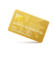 icongoldcreditcard vector image