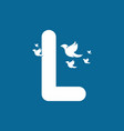 initial letter l with birds shape logo vector image